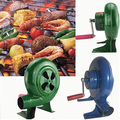 YUANP Soffiatore A Mano per Barbecue Esterno Manuale Soffiatore A Mano per Ventilatore Manuale Esterno Ventilatore per Popcorn Ventilatore per Ingranaggi in Ferro,250W