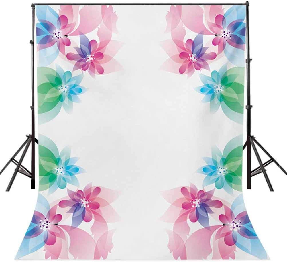 10x15 FT Photography Backdrop Abstract Petals with Digital Hazy Reflections Bridal Buds Exquisite French Style Pattern Background for Child Baby Shower Photo Vinyl Studio Prop Photobooth Photoshoot