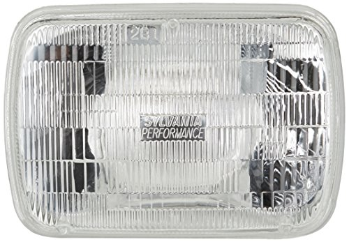 SYLVANIA H6054 SilverStar High Performance Halogen Sealed Beam Headlight 142x200, (Contains 1 Bulb)
