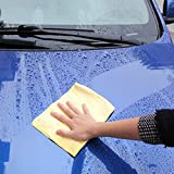 interjunzhan Useful Synthetic Chamois Leather Goods Car Washing Hair Dry Magic Towel Cloth Absorber Random Color