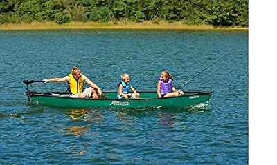 """Sun Dolphin Scout 14"""" SS 3 Person UV Stabilized Canoe w/ Drink Holders"""