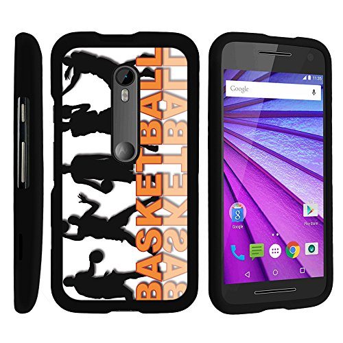 (MINITURTLE Case Compatible w/ Motorola Moto G XT1548 Phone Case, Personalized Perfect Fit Snap on Cell Phone Case Basketball Design Series B-Ball Roster)