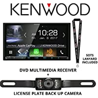 Kenwood DDX9704S In Dash DVD CD 6.95 Touchscreen Display, Built in Bluetooth, HD Radio Tuner, with Universal License Plate Style Backup Camera and a FREE SOTS Lanyard