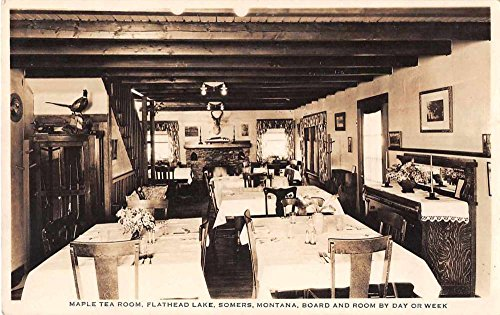 (Somers Montana Flathead Lake Maple Tea Room Real Photo Antique Postcard J54816 )
