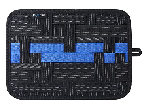 GoFree Electronics  amp; Accessories Organizer Grid Pad  Black, 10.8x7.6 inch