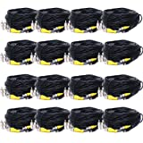 VideoSecu 16x 150ft Security Camera Cables BNC RCA Video Power Wires Home DVR CCTV Surveillance Cords with Bonus Adapters CLD