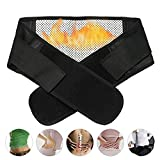Bennyue Self-heating Magnetic Therapy Support Brace Back Waist Belt Adjustable Strap Pain Relief Lumbar Lower Massage Heated Support Pads Black (XL)