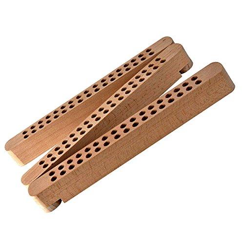 Nuovo supporto per penne e pennelli in legno, pieghevole AMI