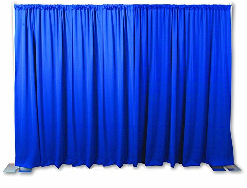 OnlineEEI BBD9990810CDPR280BAG Portable Backdrop Kit with Carry Bag, Royal Blue Drapes