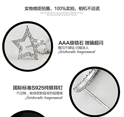 612cca9be KOREA-JIAEN Pearl Earrings S925 Sterling Silver Plated Base Double Sided  Stud Earrings Tassel Ear