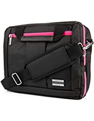 El Prado 3 in 1 Carry-On CrossBody Bag, Backpack and Briefcase - Pink Trim [LRG] For 14 to 15.6 inch Laptop Notebook...