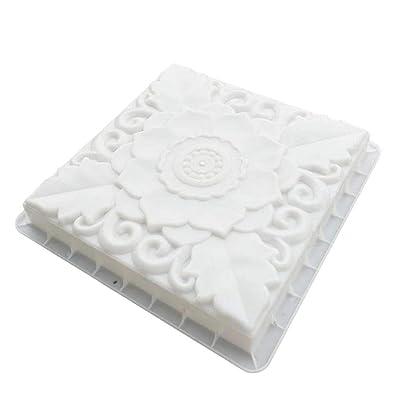 Yardwe Concrete Path Mold Walkway Maker Molds Plastic Brick Pavement Mold Paver Mold for Lawn Patio Garden 40x40x6cm : Garden & Outdoor