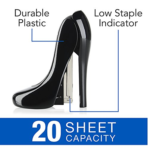 Swingline High Heel Stapler, 20 Sheets, Plastic, Black (S7070971)