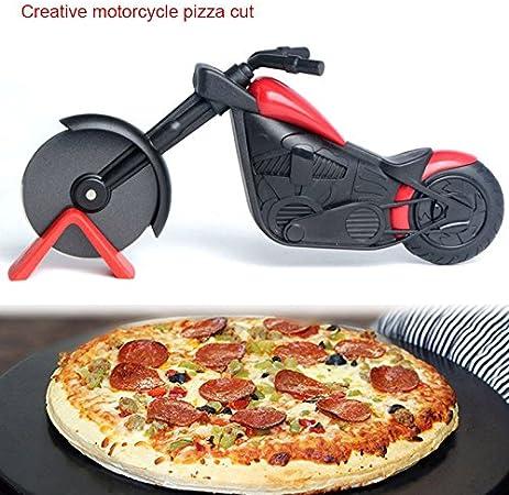 Roulettes /à pizza moto roulette /à pizza en acier inoxydable