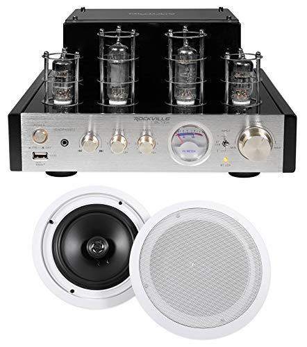 Rockville BluTube Tube Amplifier/Home Theater Receiver+(2) 8