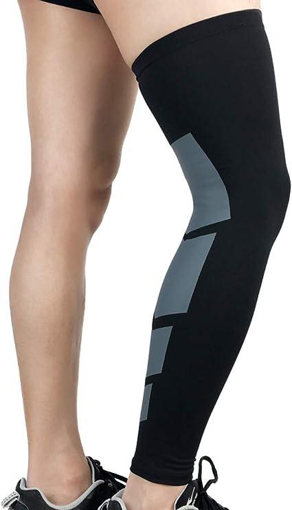 M 1Pair Arthritis Cycling Sport Football for Basketball Full Leg Sleeve Long Compression Knee Brace Protect Leg for Men and Women