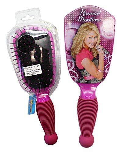 Hannah Montana Magenta Colored Rubberized Grip Hairbrush