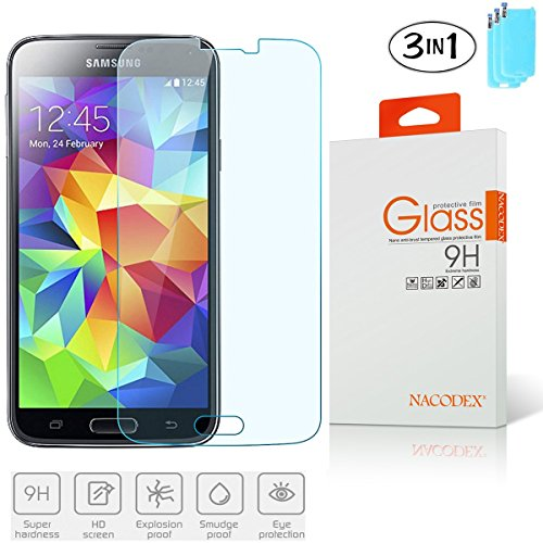 Tempered Glass Screen Protector Guard For Samsung Galaxy S5 SV - 5