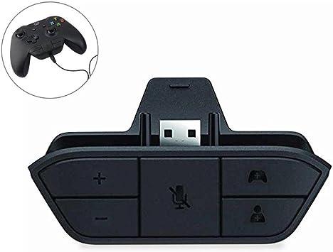 KOBWA Xbox One Stereo Headset Adapter Headphone Converter Game ...