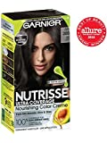 Garnier Nutrisse Ultra Coverage Hair Color, Deep Soft Black (Black Sesame) 200