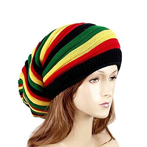 Wig Jamaican (EchoMerx Reggae Baggie Beanie Hat Rasta Colors)
