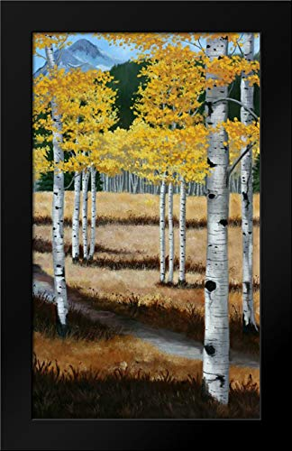 Trail into The Aspens II 25x40 Modern Black Wood Framed Art Print by Peterson, Julie