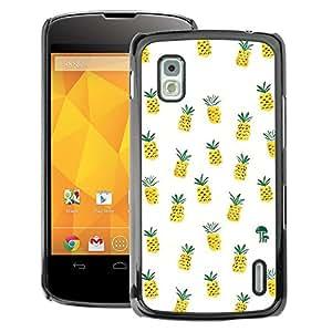 A-type Arte & diseño plástico duro Fundas Cover Cubre Hard Case Cover para LG Nexus 4 E960 (Weed Cannabis 420 Smoke)