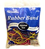 BAZIC Assorted Dimensions 56g/Approx 100 Rubber Bands, Multi Color