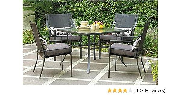 d14f030ec877 Amazon.com: Gramercy Home 5 Piece Patio Dining Table Set : Garden & Outdoor