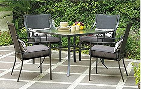 Incredible Gramercy Home 5 Piece Patio Dining Table Set Home Remodeling Inspirations Cosmcuboardxyz