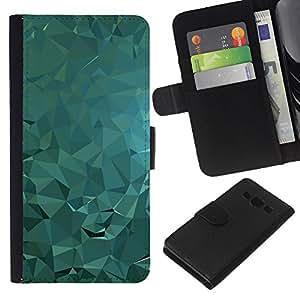 - LIGHT POLYGON WATER FLUID ABSTRACT - - Prima caja de la PU billetera de cuero con ranuras para tarjetas, efectivo desmontable correa para l Funny House FOR Samsung Galaxy A3
