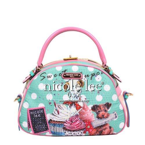 nicole-lee-cupcake-dog-print-bowler-bag