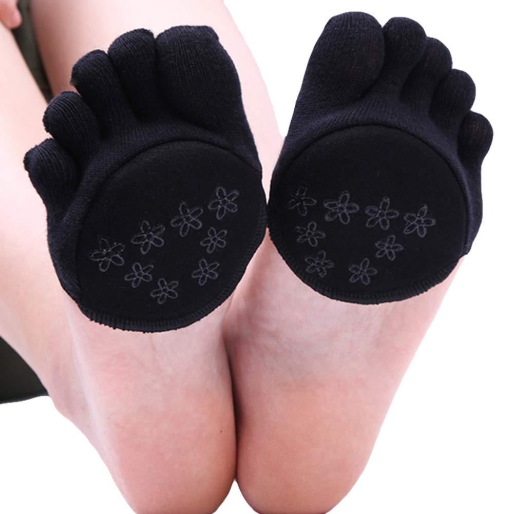 Antiscivolo Skid Pilates Yoga Calzini con dita antiscivolo Alluce con manopole in cotone Unisex per donna Uomo Cotone