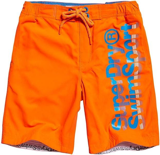 TALLA S. Superdry Boardshort Pantalones Cortos para Hombre