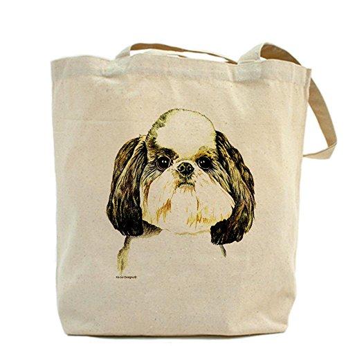 Cafepress–Shih Tzu Puppy Cut–Borsa di tela naturale, tessuto in iuta