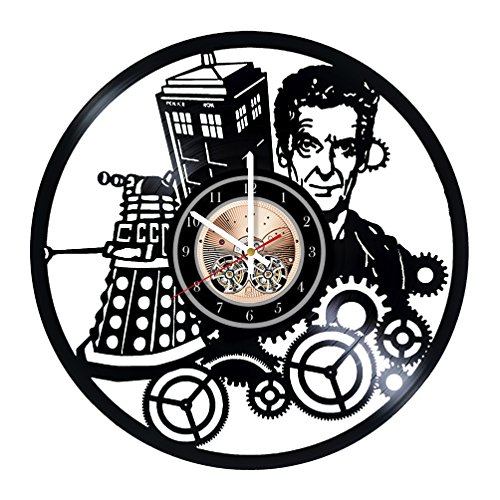 Doctor Who British Science-Fiction Television Programme Art Vinyl Record Wall Clock 12