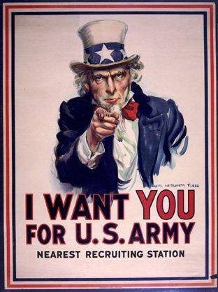 I Want You for U.S. Army Uncle Sam WWII War Propaganda Art P