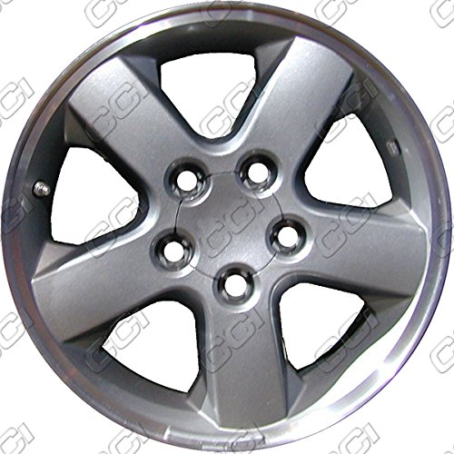 17'' Machined With Charcoal Refurbished OEM Wheels for 02-04 JEEP GRAND CHEROKEE (Machined 17' Wheel)