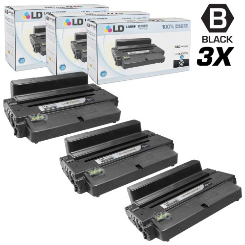 LD © Compatible Samsung MLT-D205L Set of 3 High Yield Black Toner Cartridges for Samsung ML and SCX Printer Series