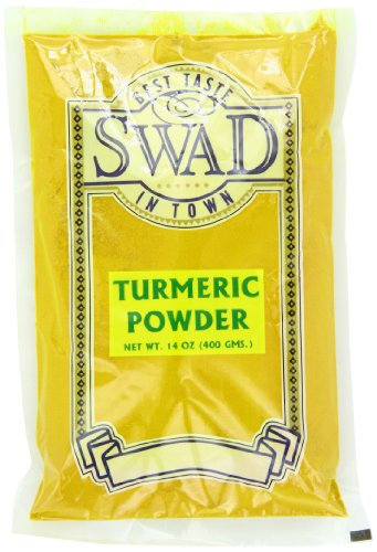 Swad Turmeric Powder, 14-Ounce (Pack of 5) by Swad