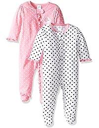 Baby Girls' 2 Pack Zip Front Sleep 'n Play