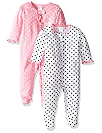 Gerber Baby Bebé Niñas 2 Pack Cierre Delantera Sleep 'n Play