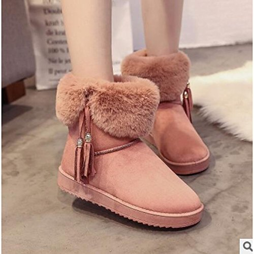 Pink Shoes Winter Black HSXZ Ankle Boots Toe Comfort Women's Gray Round PU Grey Booties Casual ZHZNVX Boots Fall Flat for axSEIqCInw