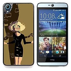 """Rubia de Halloween del personaje de dibujos Scary"""" - Metal de aluminio y de plástico duro Caja del teléfono - Negro - HTC Desire 626 626w 626d 626g 626G dual sim"""