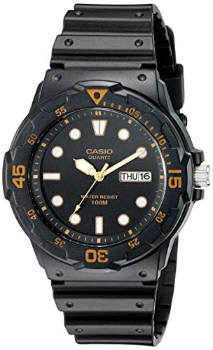 Watch Dive 100m (Casio Men's MRW200H-1EV Dive Watch with Black Band)
