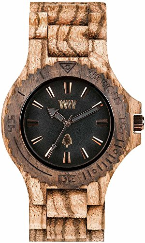 WEWOOD watch Wood / wooden DATE ZEBRANO ROUGH 9818119