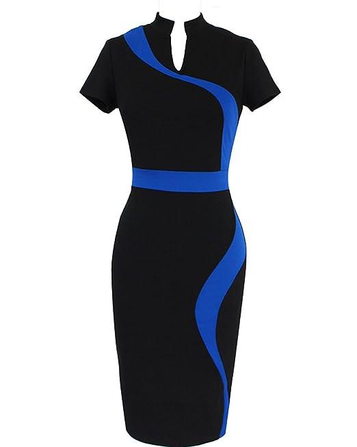 Vestidos Ropa de Mujer Vintage Coctel Fiesta Para Cortos de Noche Ropa Vestidos Azul Claro S