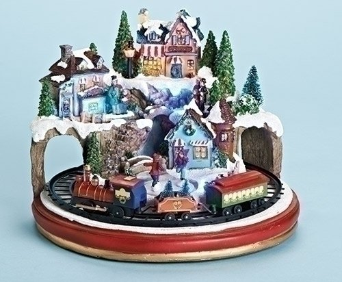 Musical Village with Train Adaptor Included for Base ()