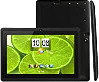 KOCASO DX768 Pro [7 INCH] Quad Core [Android 4.4 KitKat] HD Tablet PC- 8GB Storage W/ 32GB Expandable Memory, 1024x600, Dual Camera, WiFi/Bluetooth, Micro USB/TF Card Slot & FREE ACCESSORIES- Black