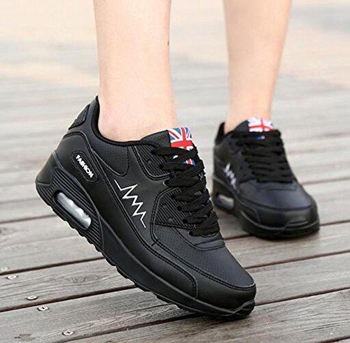 Cordones Zapatillas Con Tul Creepers Exterior Otoño Caminar color 39 Segundo Tamaño Blanco Piel Negro Plataforma Primavera Para Rosa Sintética Mujer De Y Zapatos wOCqff